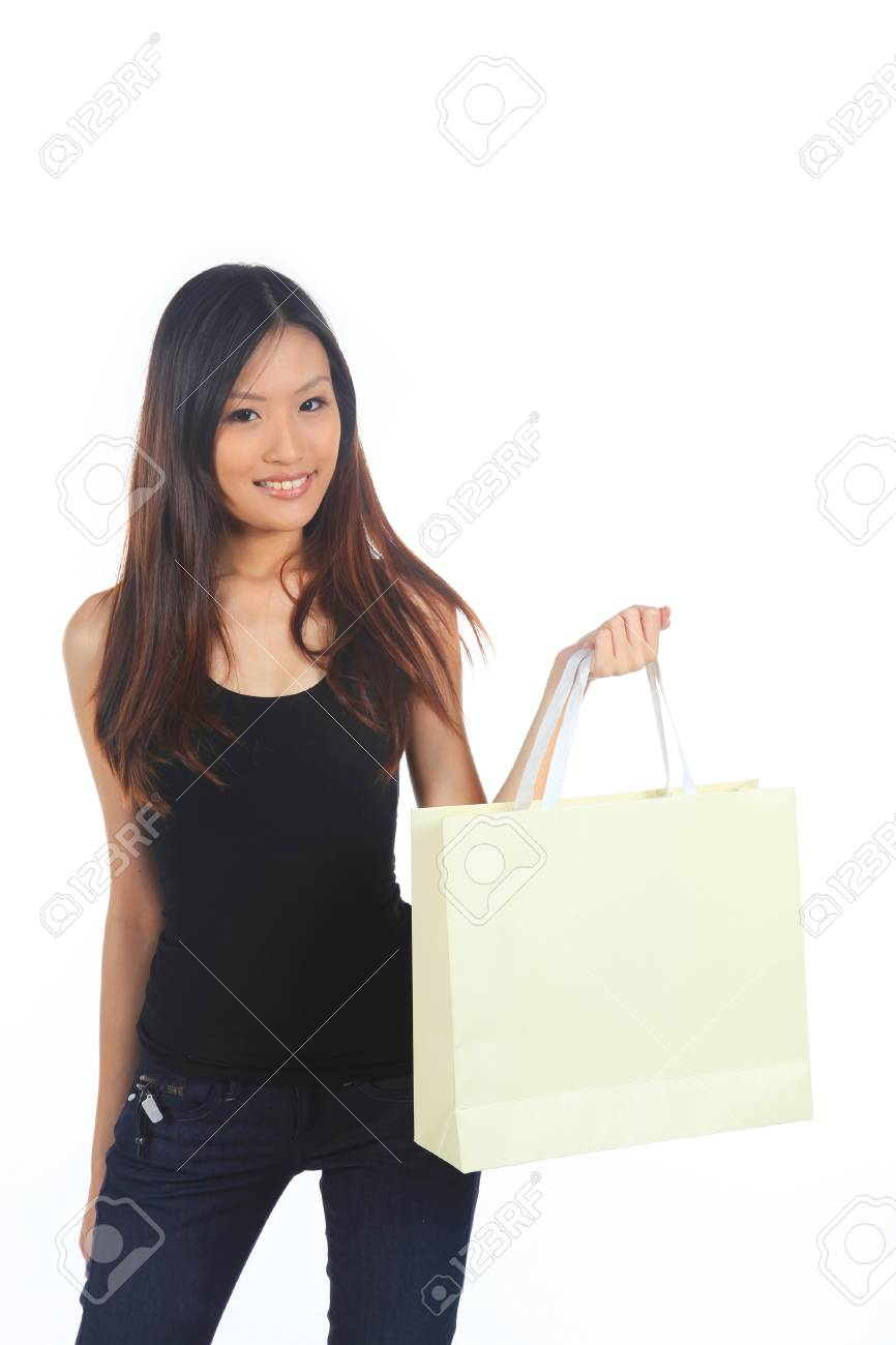 Great Sale with a Woman Holding Purchases Stock Photo - 12437203