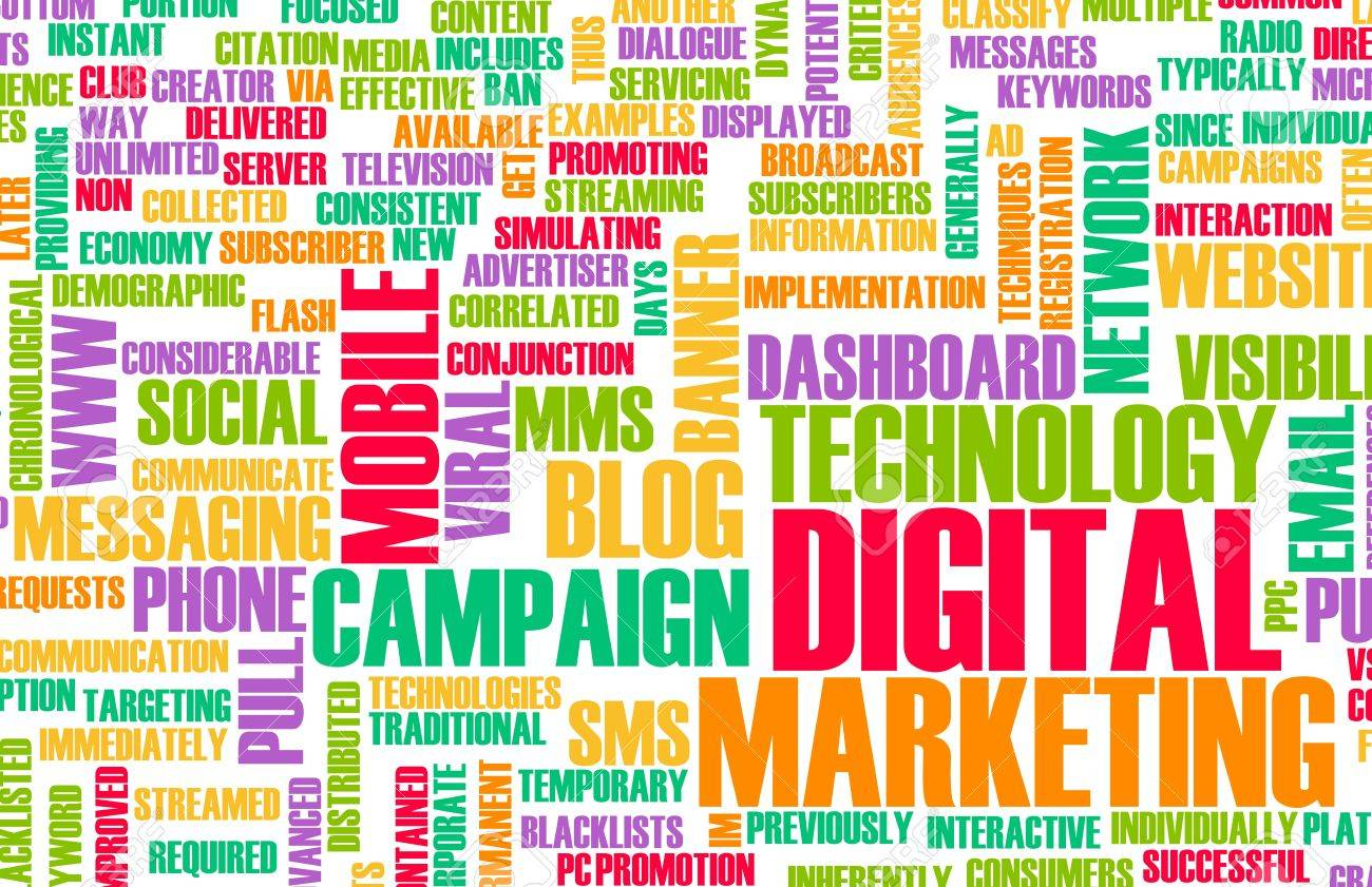 Digital Marketing on the Internet and Other Media Stock Photo - 12437225