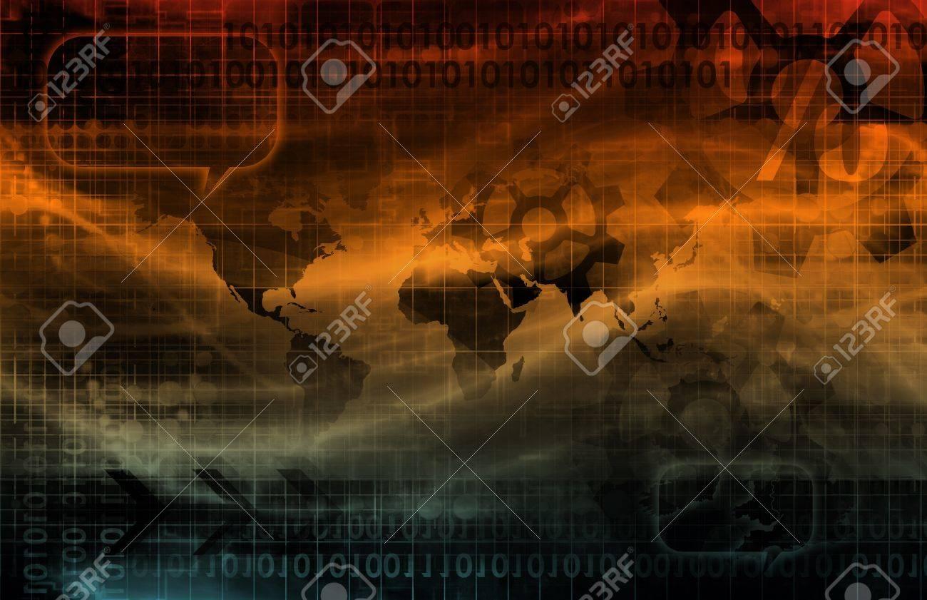 Digital Identity Management as New Technology Art Stock Photo - 12783084