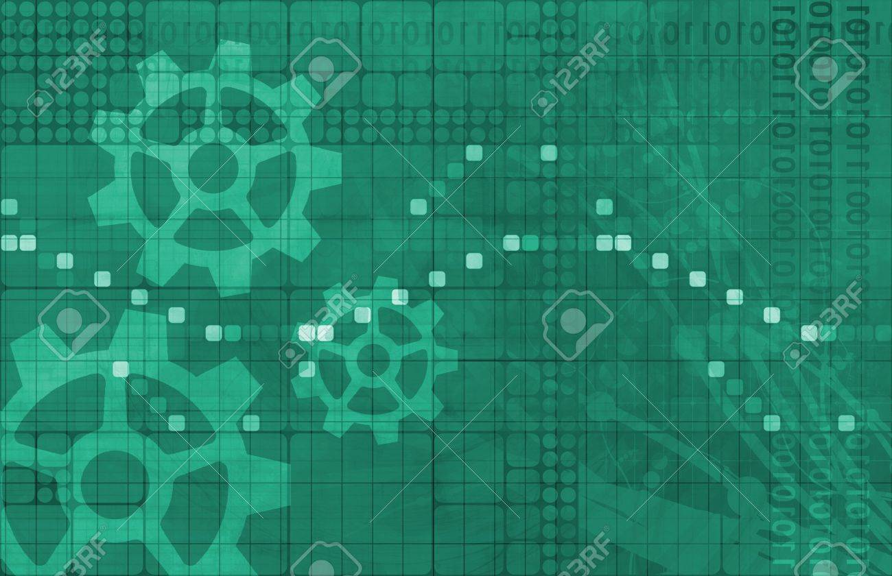 Software System Application Data as a Abstract Stock Photo - 14051442