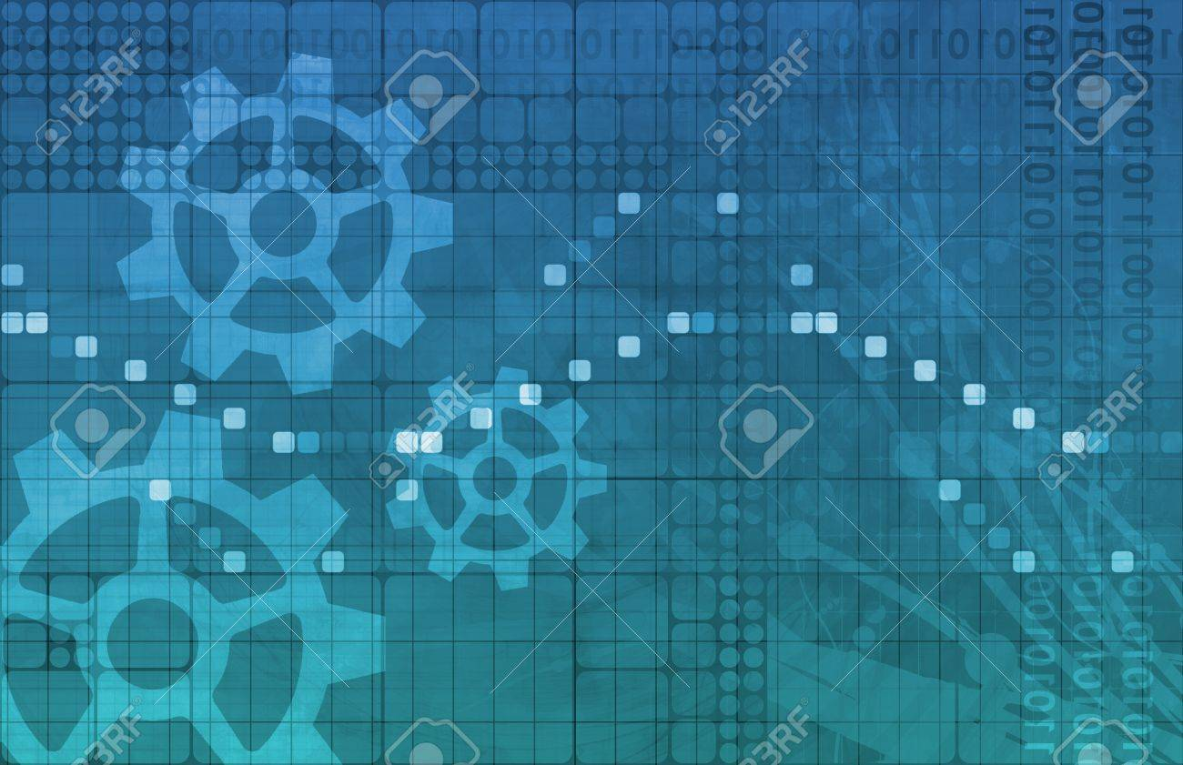 Systems Development with New Technology as Art Stock Photo - 18828113