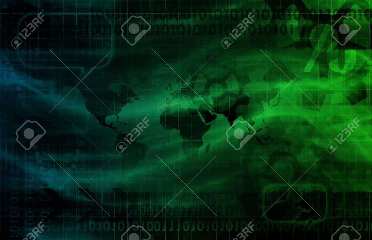 Digital Identity Management as New Technology Art Stock Photo - 18828214