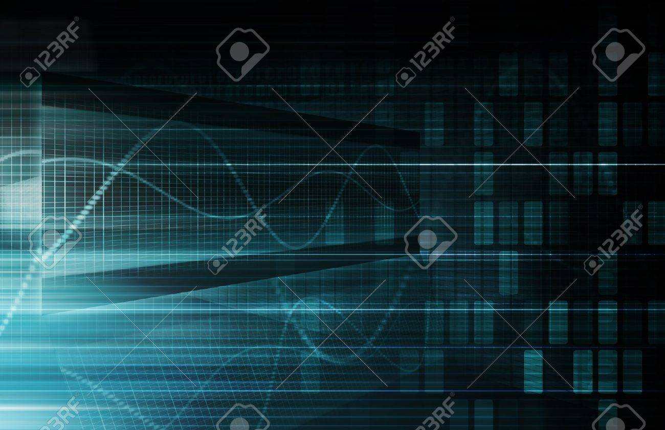 Virtual Technology with Data Filtering Web Art Stock Photo - 18975169