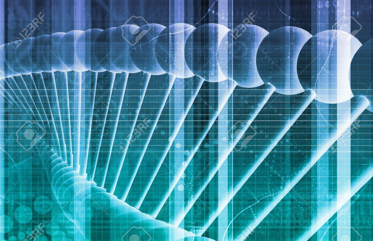 DNA Background with a Science Helix Strand Stock Photo - 21162767