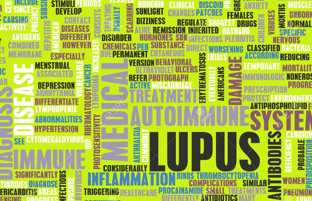Lupus Disease Concept as a Medical Condition Stock Photo - 21619436