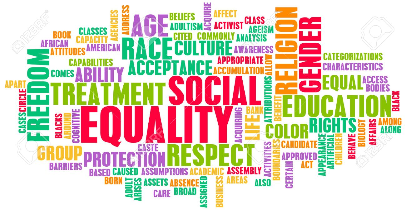 Social Equality Respect for Every Race and Gender Standard-Bild - 23733589