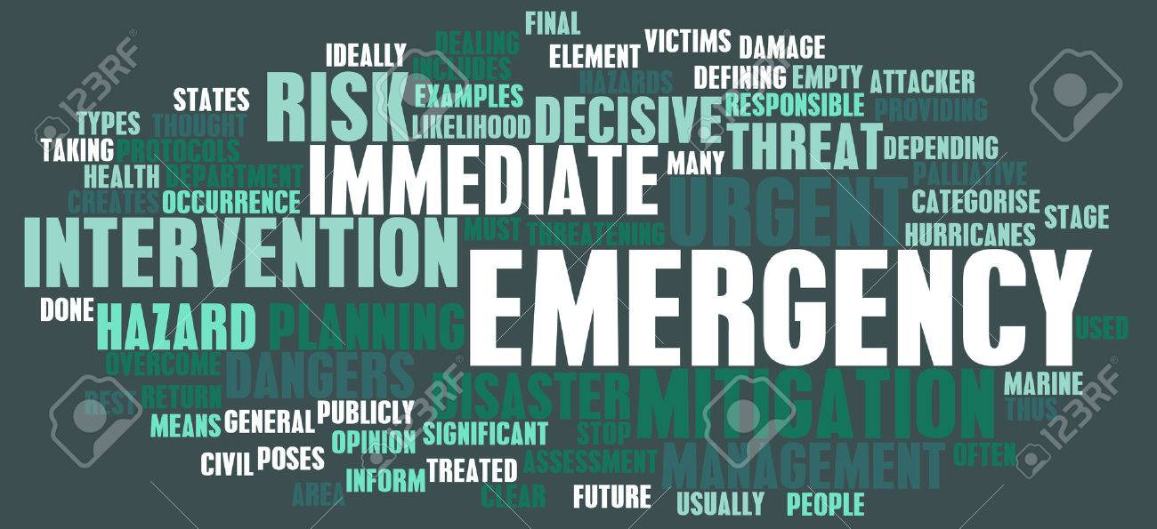 Emergency Planning and Disaster Response as Concept Standard-Bild - 23872921
