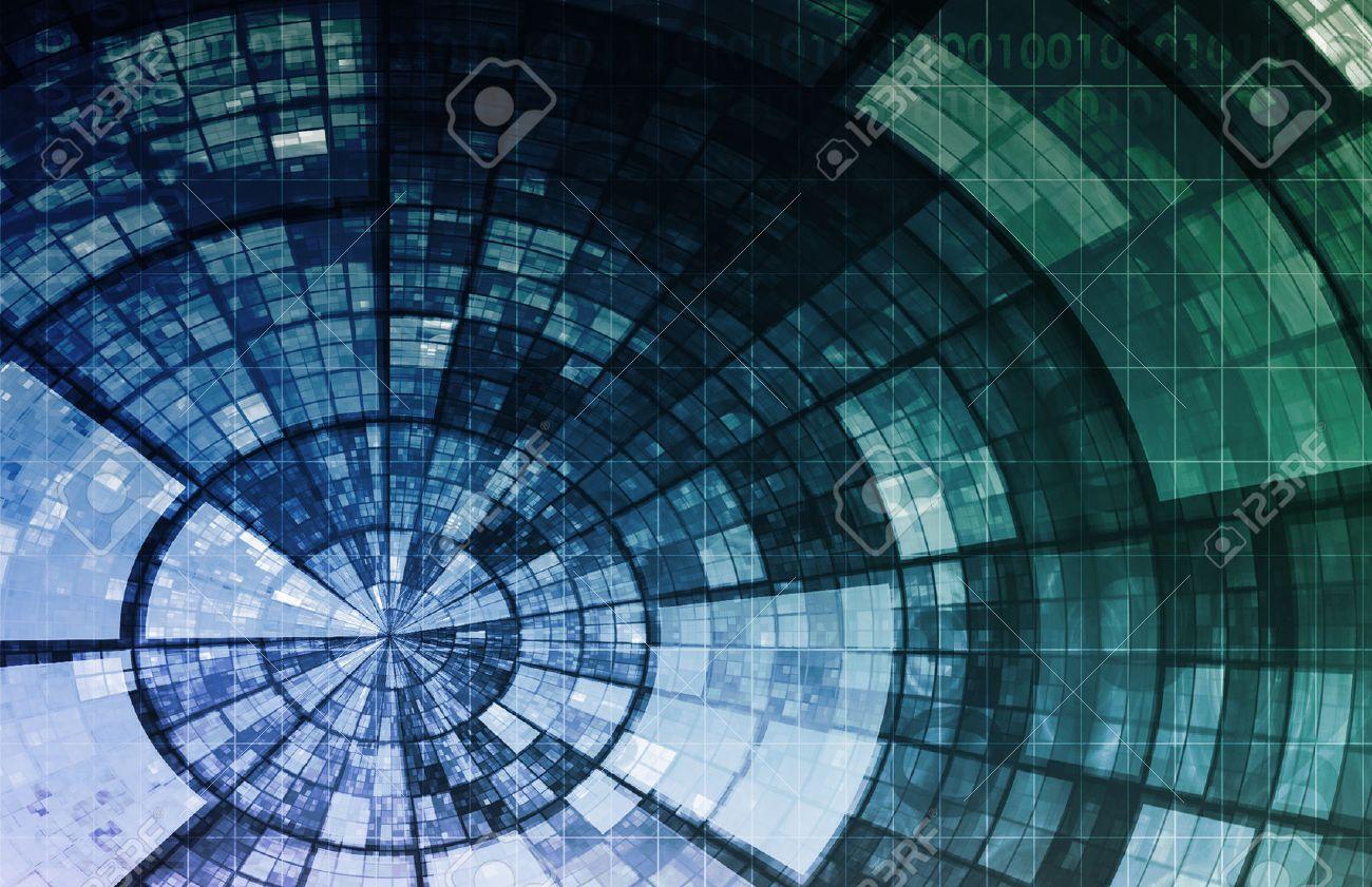 Artificial Intelligence AI Neural Network Logic Art Standard-Bild - 23872924