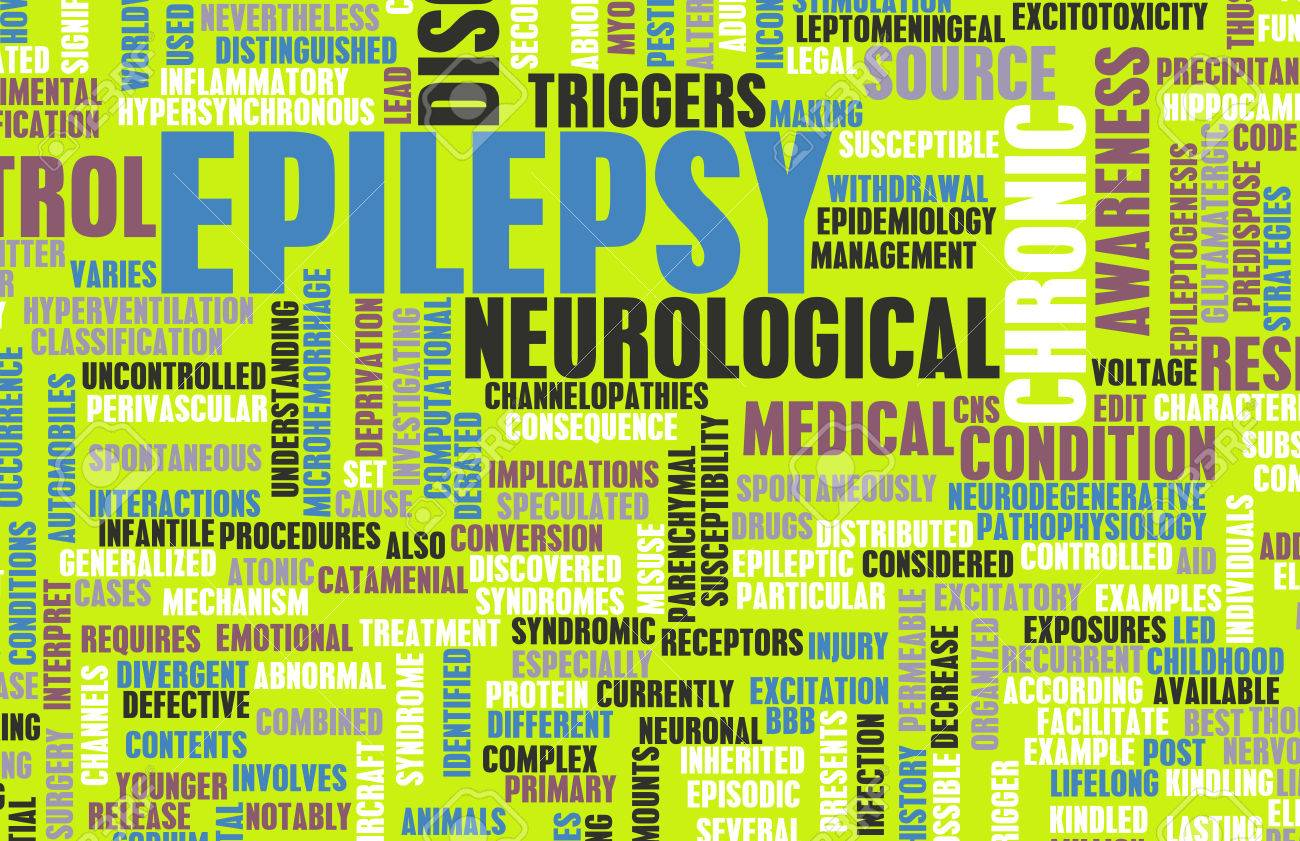 Epilepsy Concept and Epileptic Seizure as Disorder Standard-Bild - 24130743