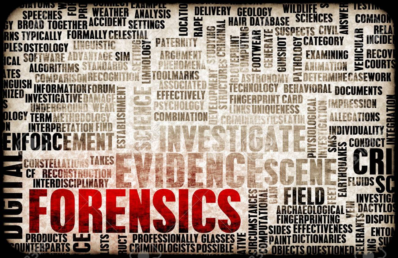 Forensics or Forensic Science as a Concept Standard-Bild - 24299004