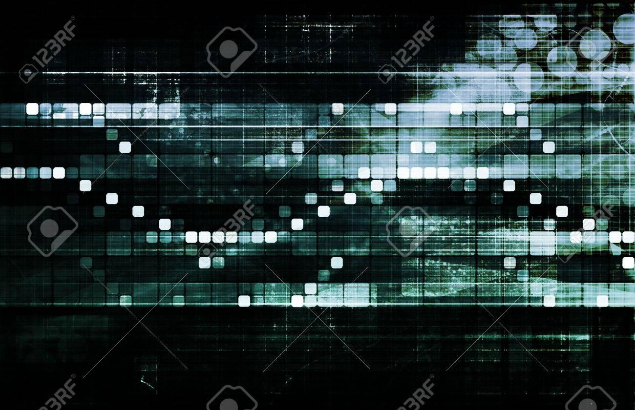 Business Technology Concept on Worldwide Report View Standard-Bild - 24916821
