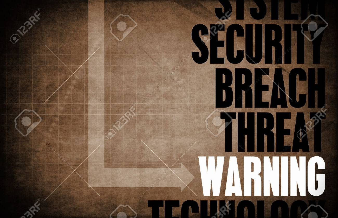 Warning Computer Security Threat and Protection Standard-Bild - 25173518