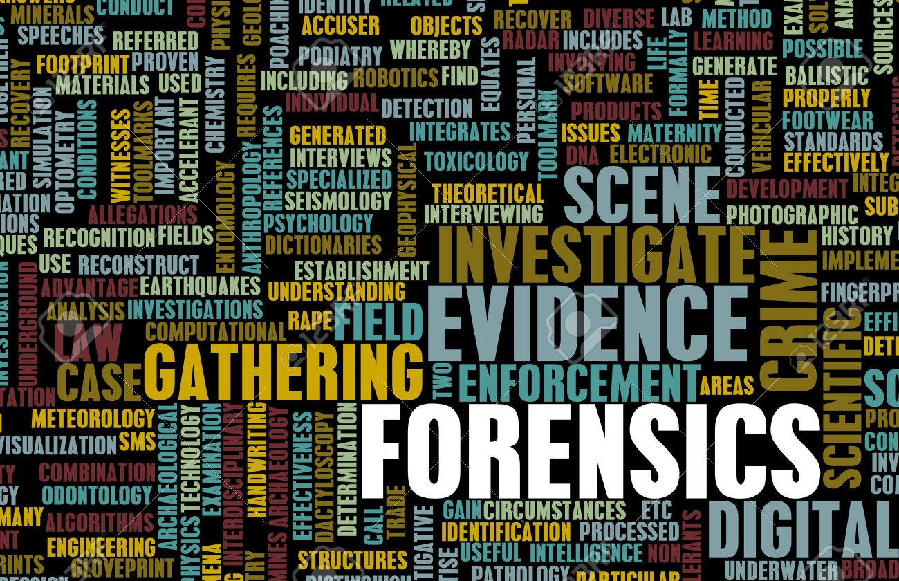 Forensics or Forensic Science as a Concept Standard-Bild - 25376964