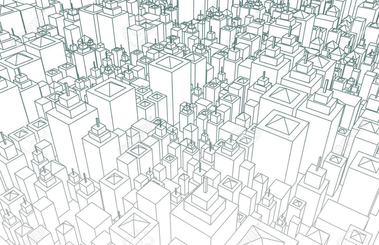 Wireframe ciudad con edificios y diseo blueprint arte fotos foto de archivo wireframe ciudad con edificios y diseo blueprint arte malvernweather Image collections