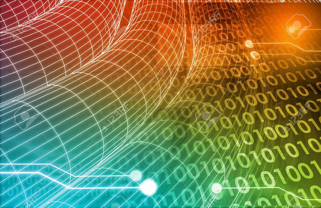 Technology Concept with a Data Information Online Standard-Bild - 26500027