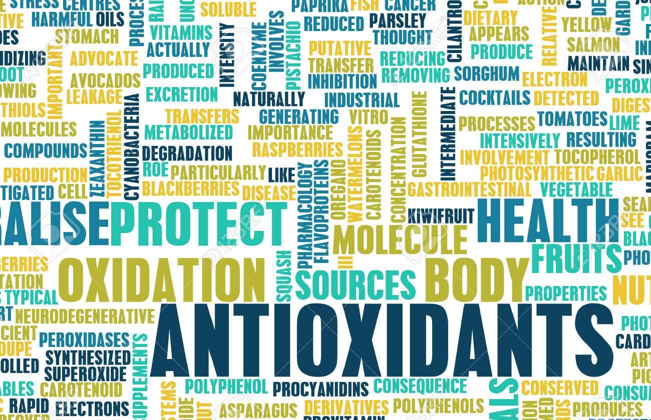 Antioxidants Concept or Anti Oxidants or Antioxidant Standard-Bild - 26500039