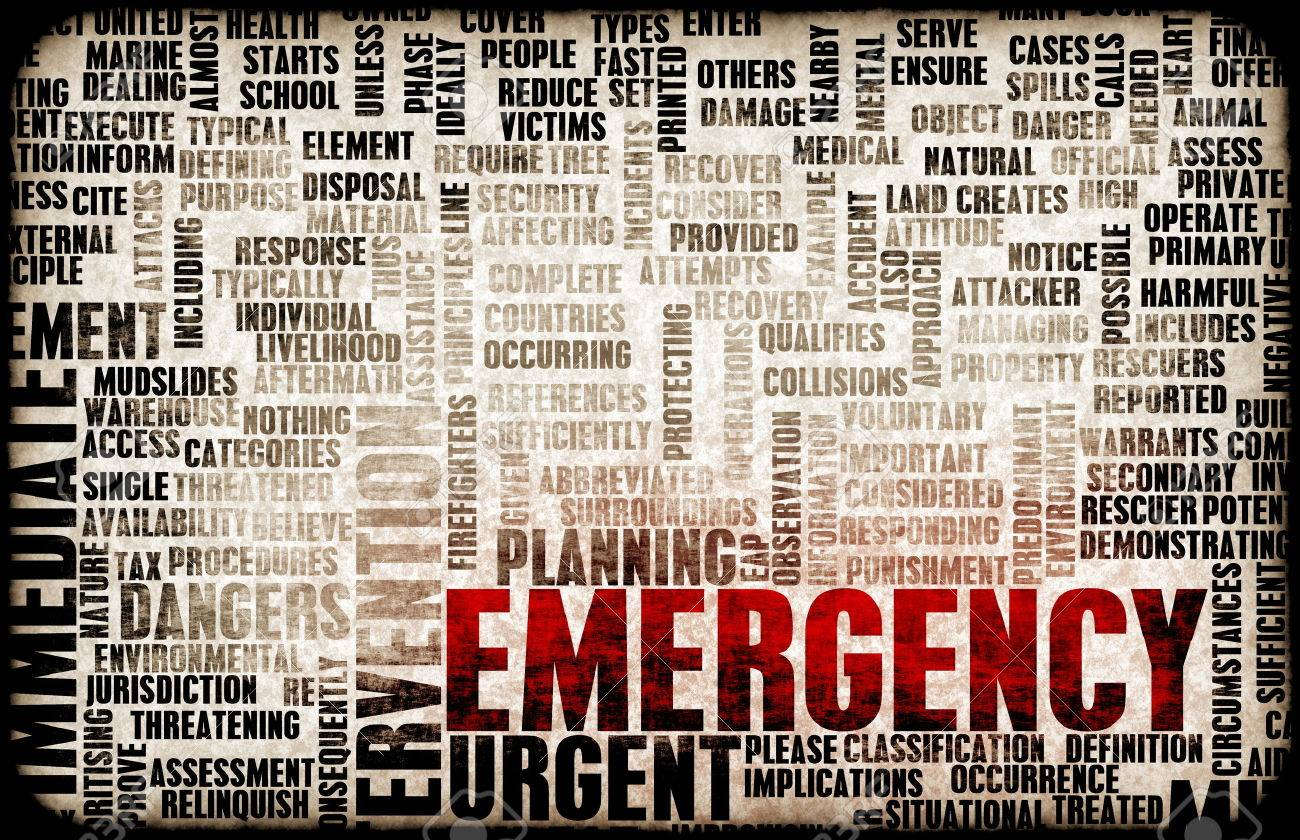 Emergency Planning and Disaster Response as Concept Standard-Bild - 26710316