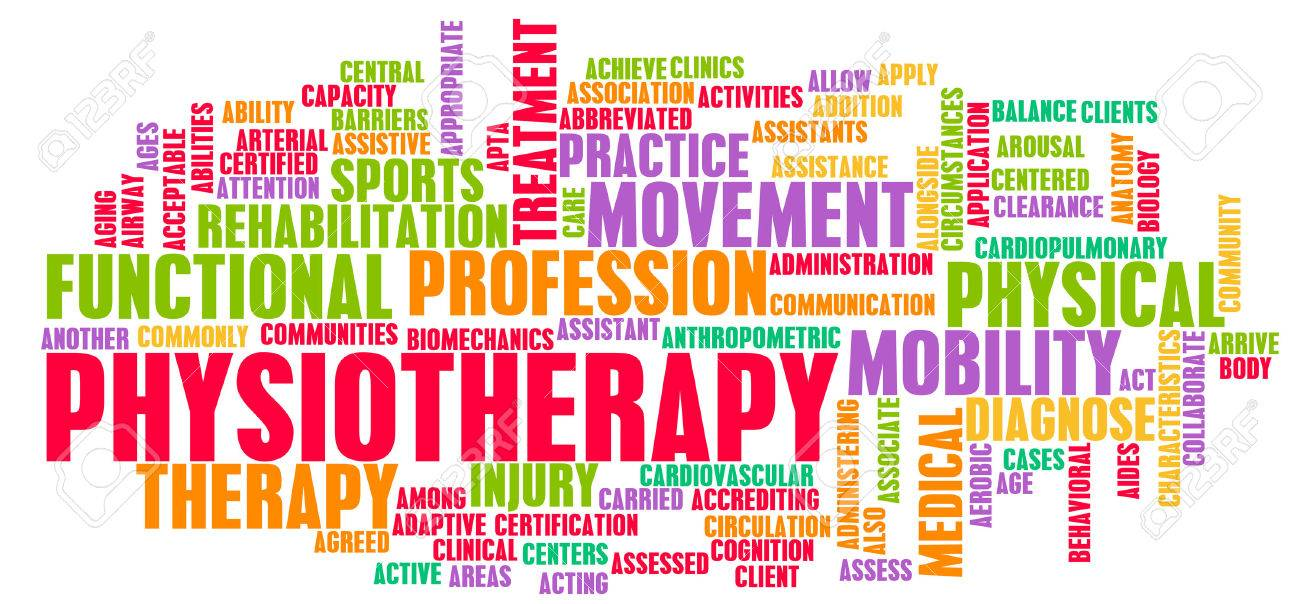 Physiotherapy as a Medical Career Concept Art Standard-Bild - 28579172