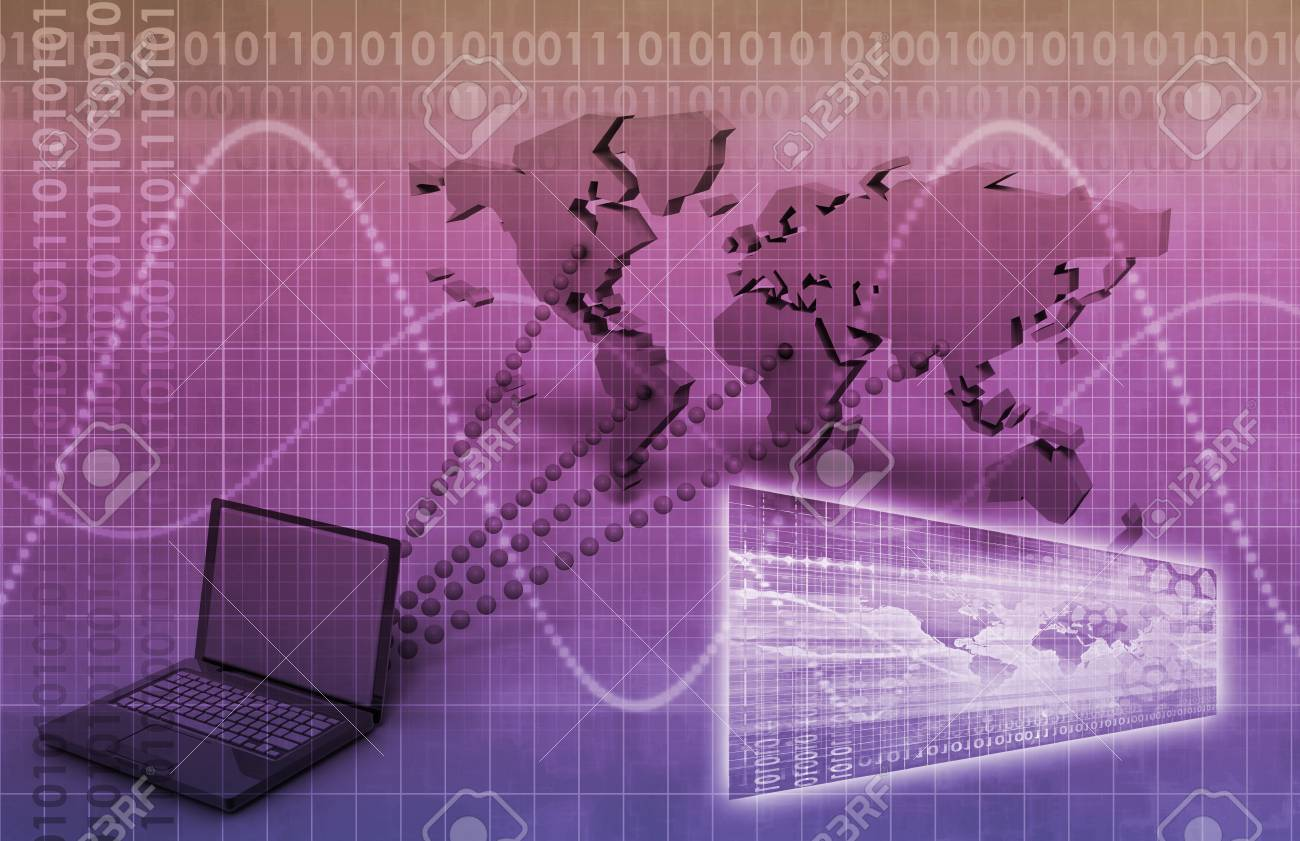 broadcast engineering and online tracker as art stock photo picture