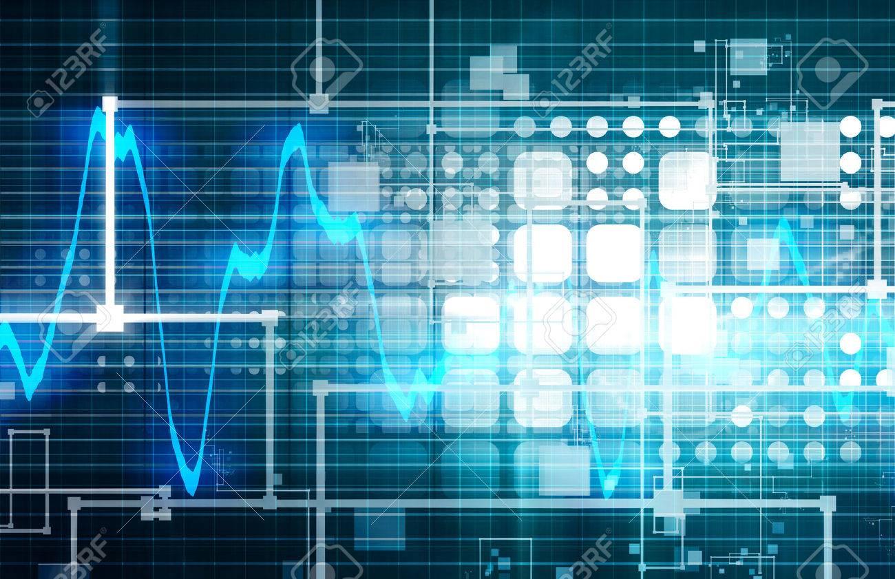 Technology Engineering and Wavelength Spectrum Web Data Standard-Bild - 30364881