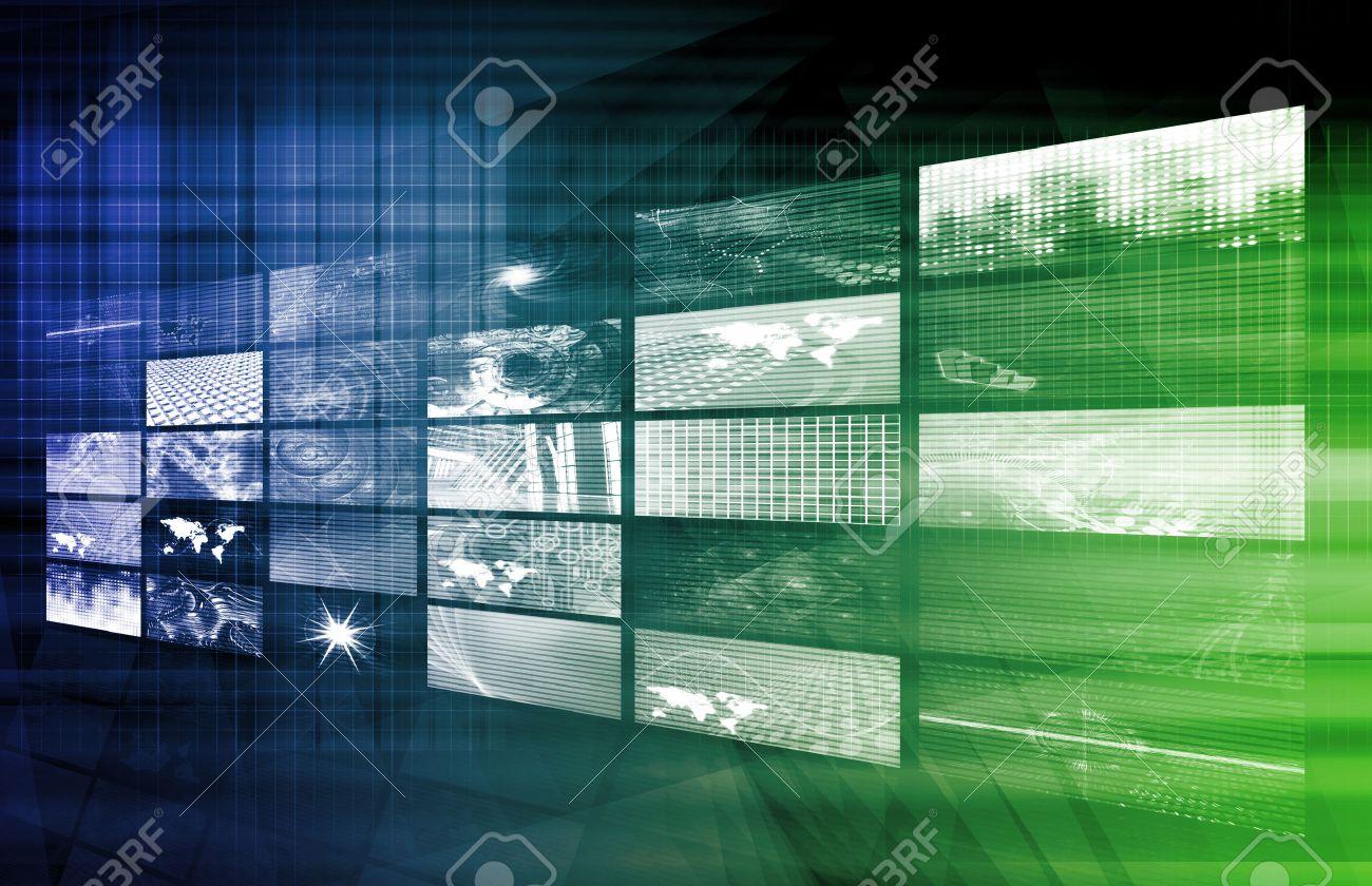 Digital Solutions for the Corporate Business Art Standard-Bild - 30792799