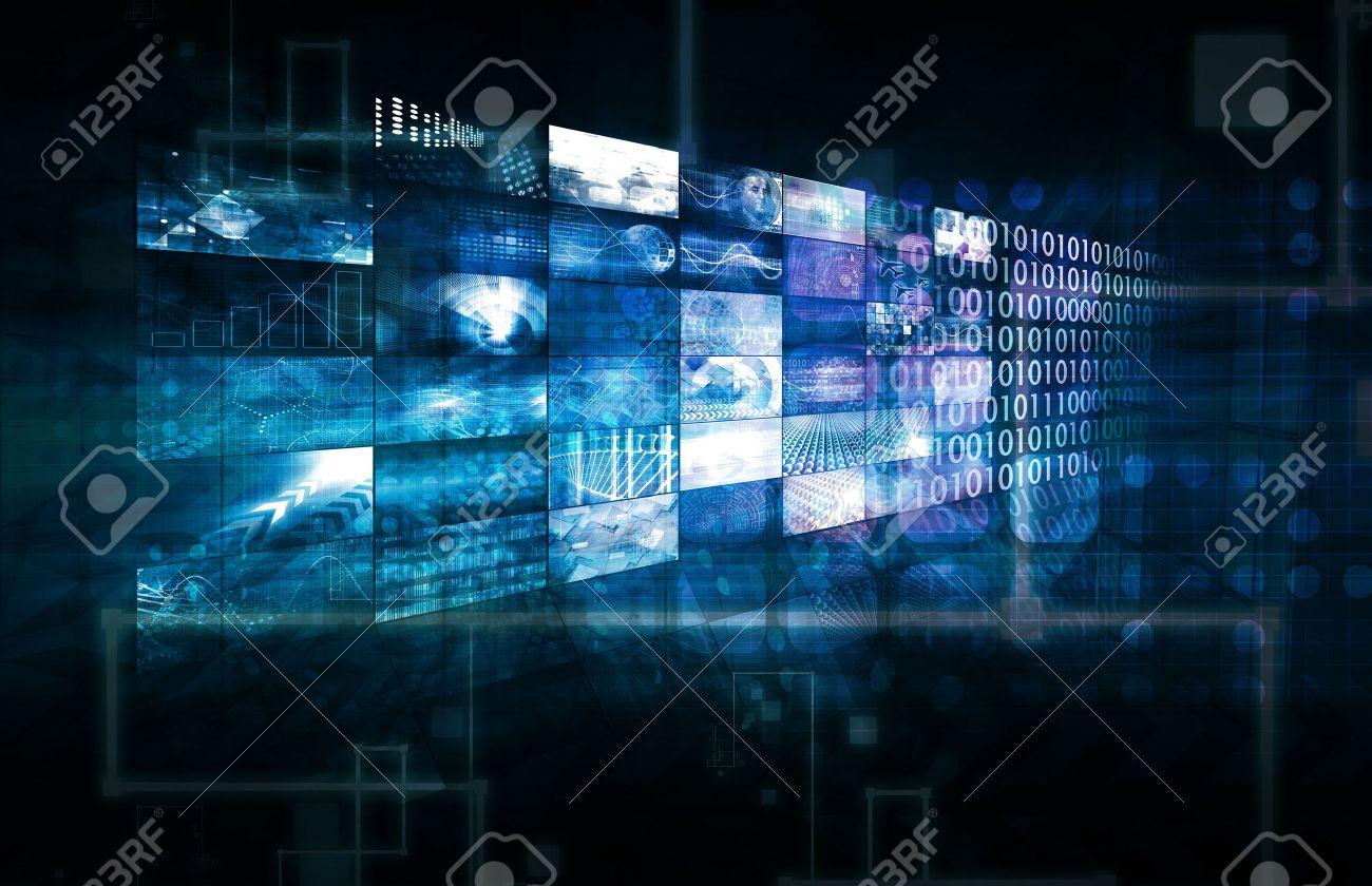Data Management Technology and Big Data as Art Standard-Bild - 31817768