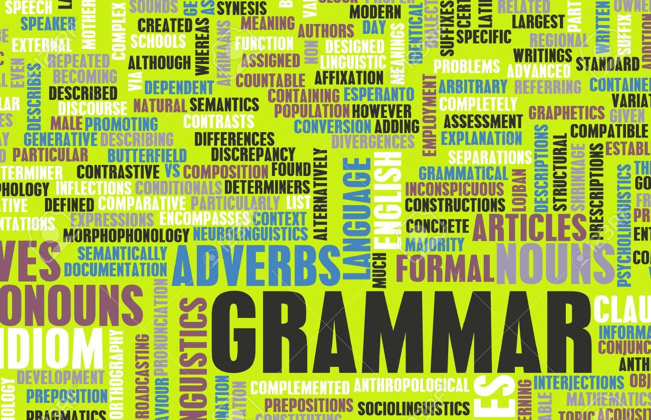 Grammar Learning Concept and Better English Art Standard-Bild - 33638637