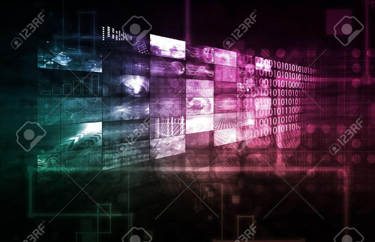 Technology Infrastructure as IT Abstract Art Standard-Bild - 35565100