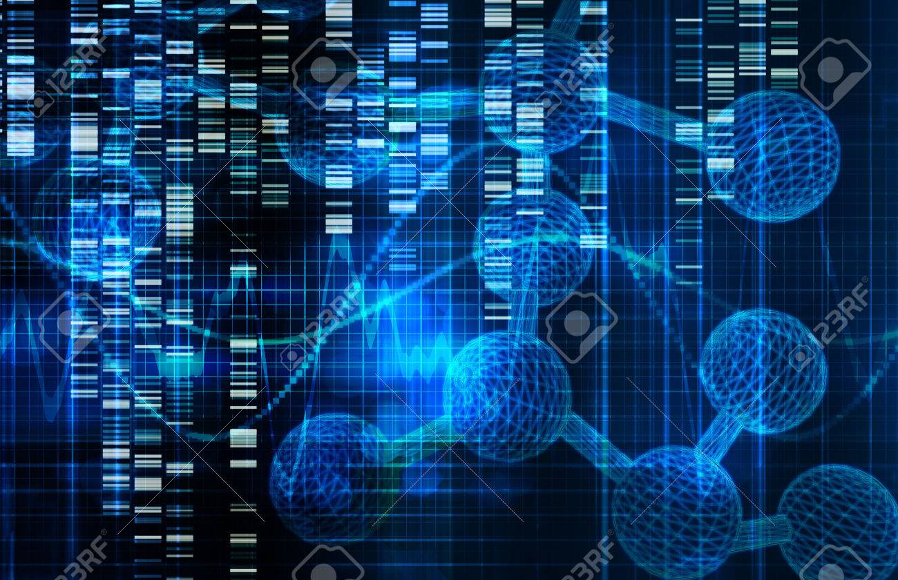 Genetic Science Research as a Medical Abstract Art Standard-Bild - 35858328