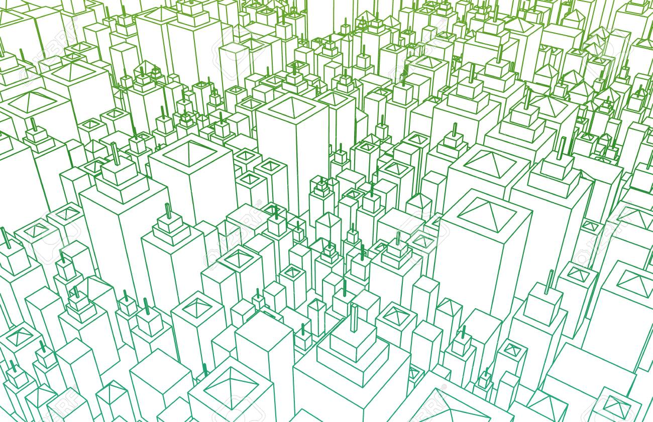 Wireframe city with buildings and blueprint design art stock photo stock photo wireframe city with buildings and blueprint design art malvernweather Choice Image