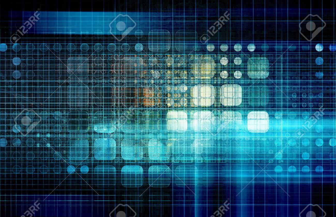 Database Network Service Management Solutions as Art Standard-Bild - 37096732