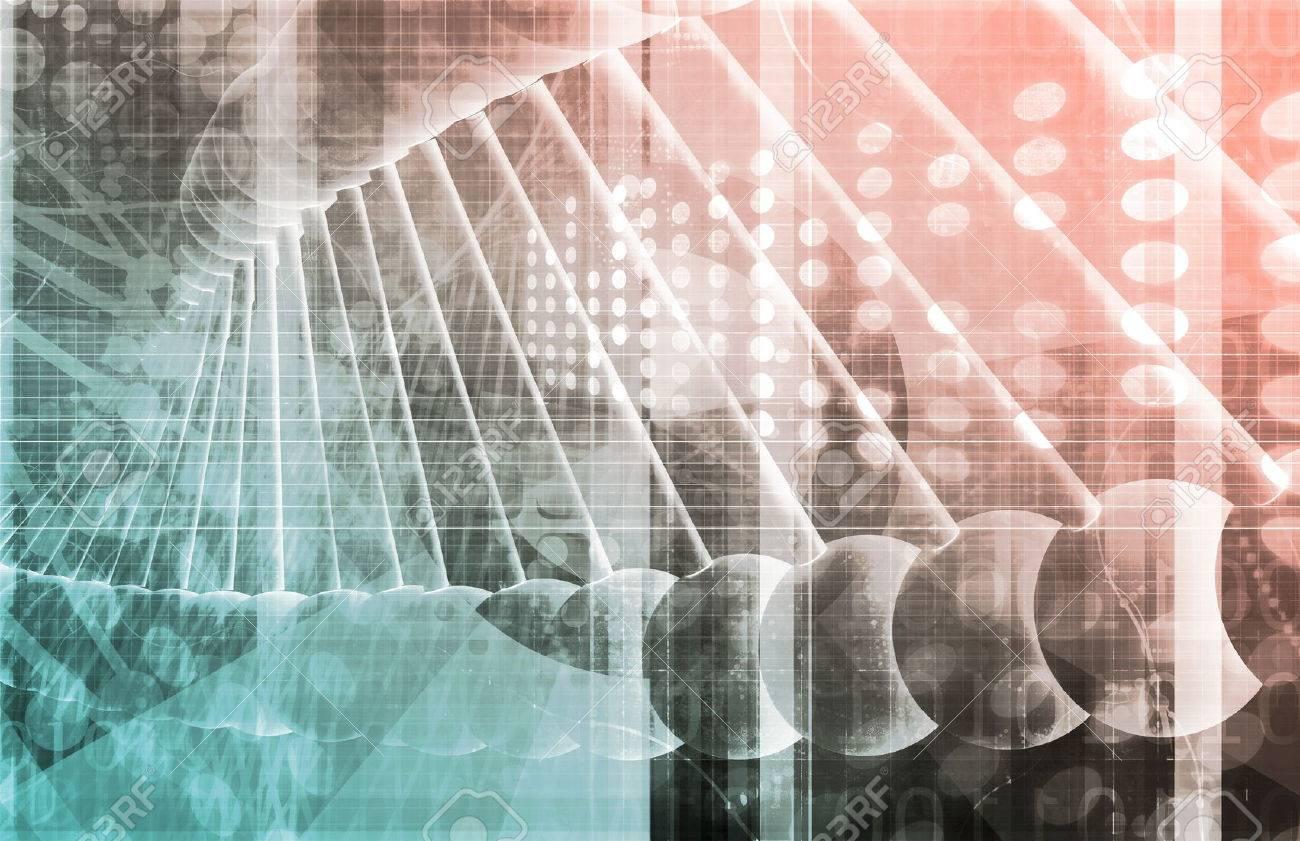 Medical Genetics or Genetic DNA Abstract Image Standard-Bild - 38374797