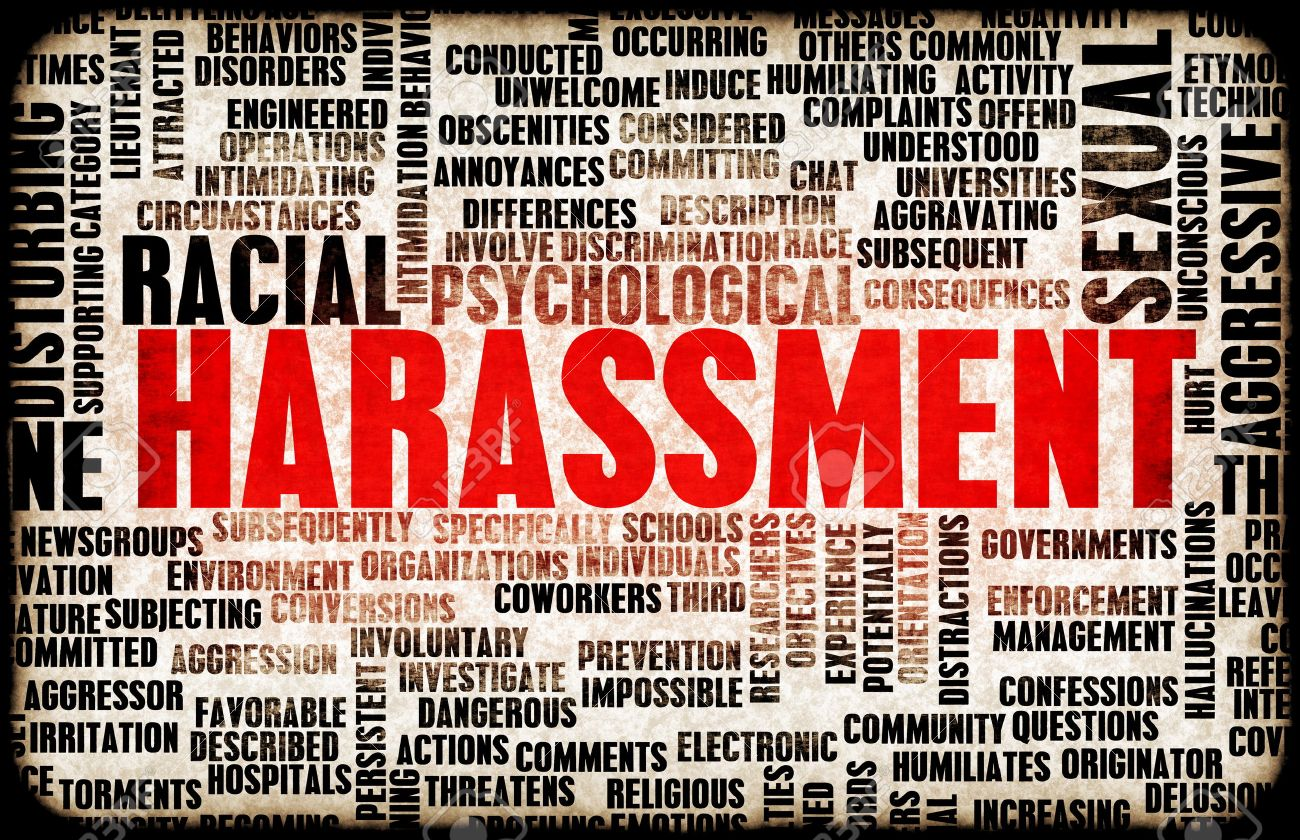 Harassment in its Many Forms and Types Standard-Bild - 38861191