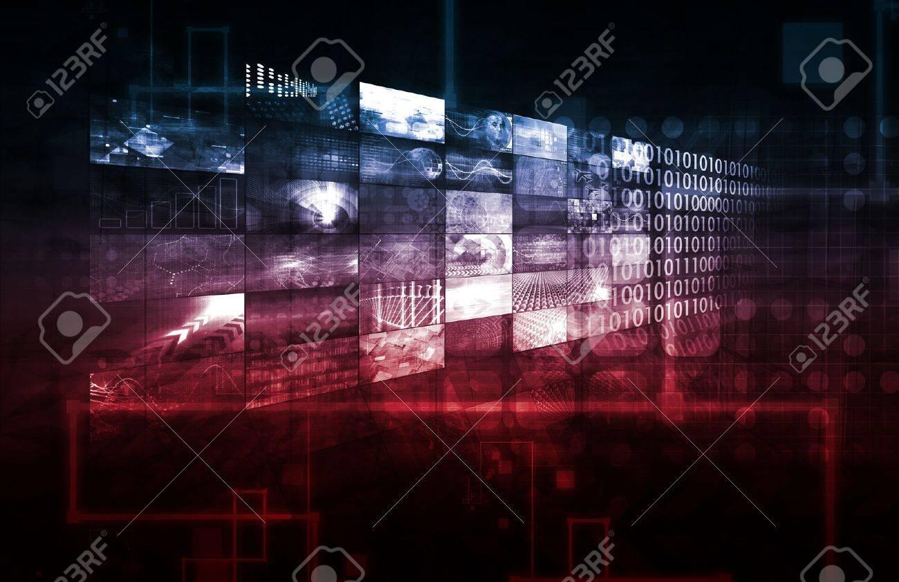 Technology Infrastructure as a IT Abstract Art Standard-Bild - 38861292