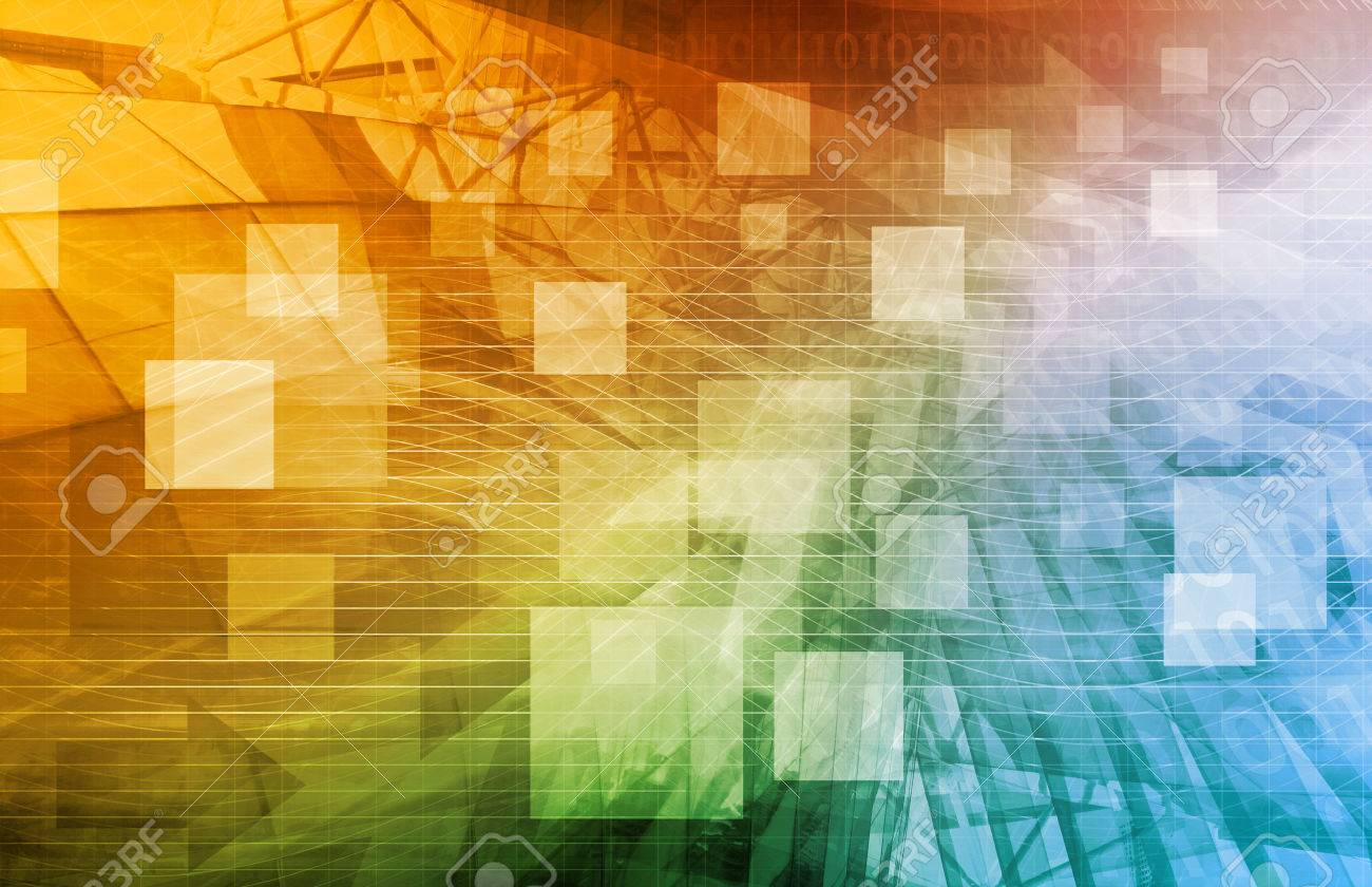 Computer Science as a Abstract Background Art Standard-Bild - 40976733