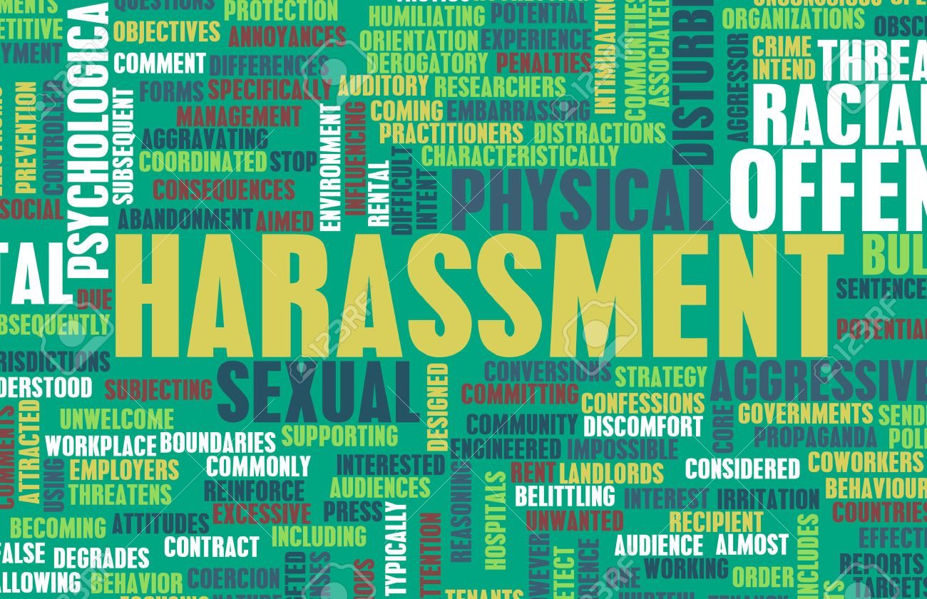 Harassment in its Many Forms and Types Standard-Bild - 41189615