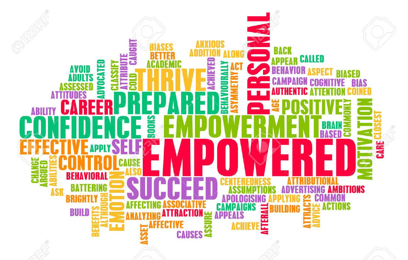 Empowerment  >> Empowered Or Empowerment Of Self As A Concept Stock Photo Picture