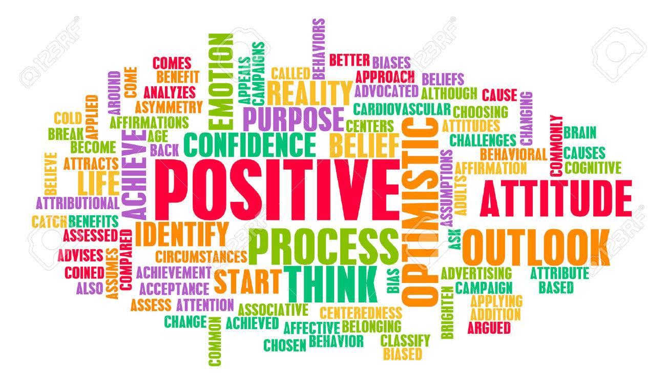 Denken oder Stay Positive als Positivität Mindset Standard-Bild - 44563759