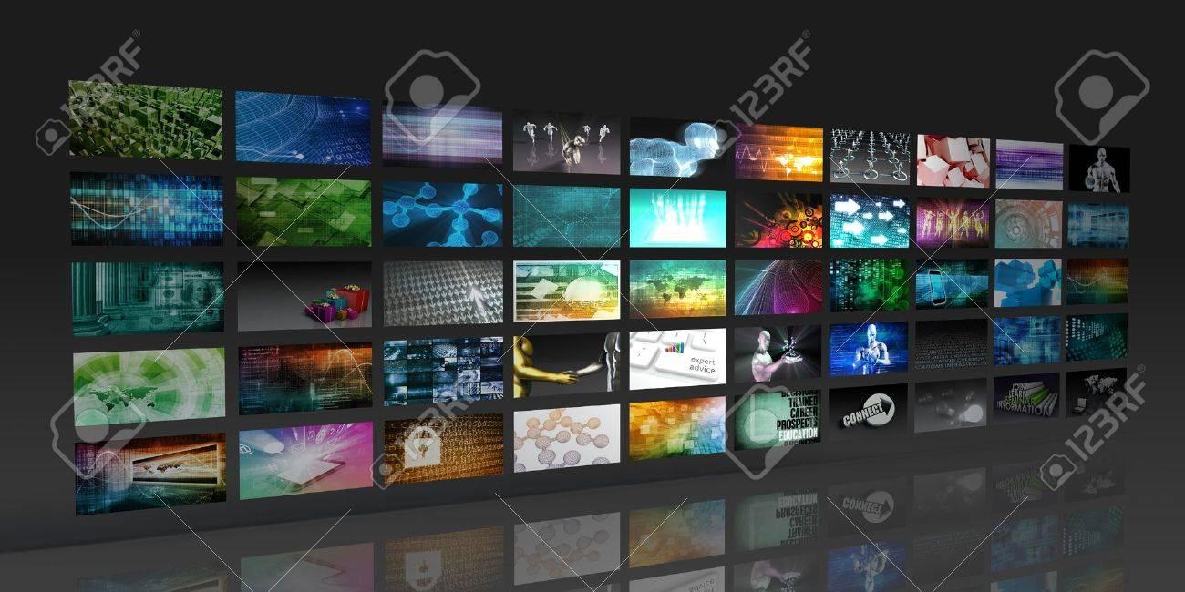 Multimedia Background for Digital Network on the Internet Standard-Bild - 44726033