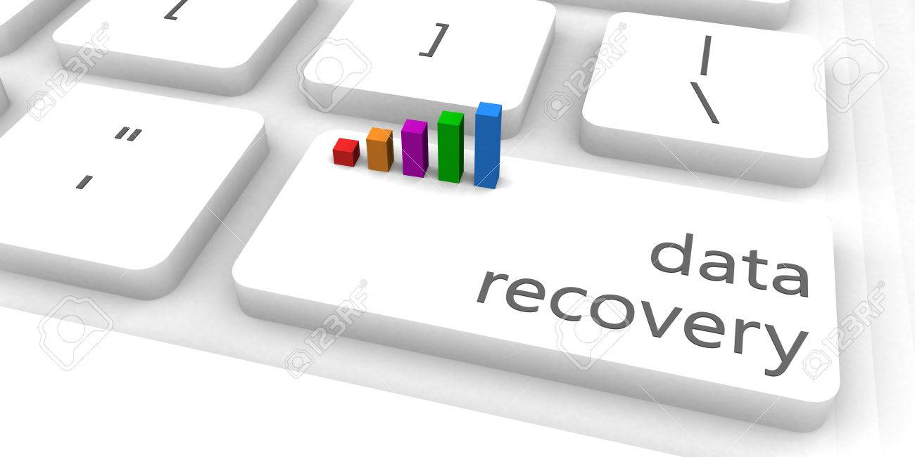 Data Recovery As A Fast And Easy Website Concept Stock Photo ...