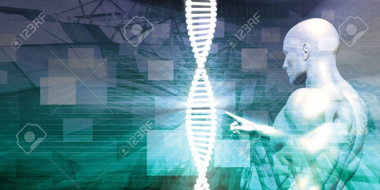 Biotechnology as a Research Abstract Background Art Standard-Bild - 45152102