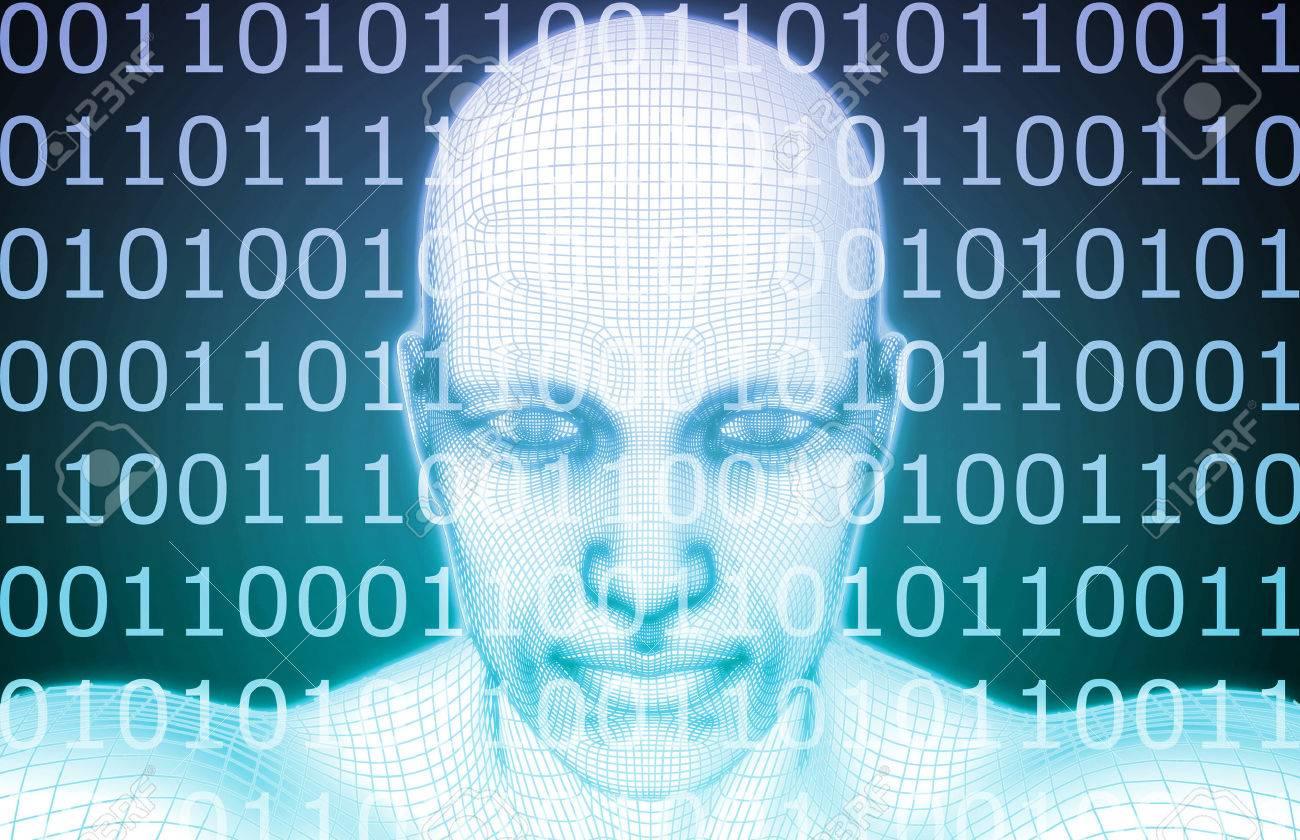 Artificial Intelligence or AI Software Logic as Concept Standard-Bild - 45260134