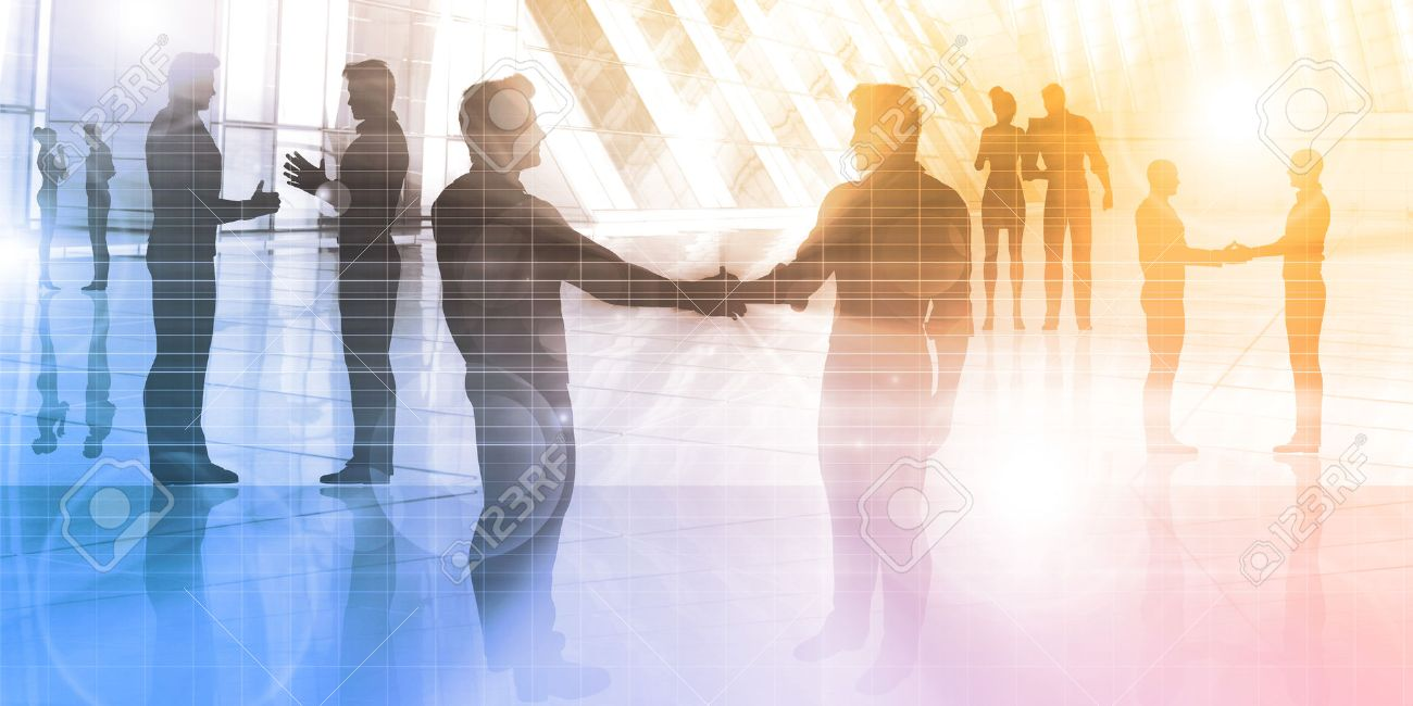 Business People Meeting in a Corporate Environment Standard-Bild - 45972886