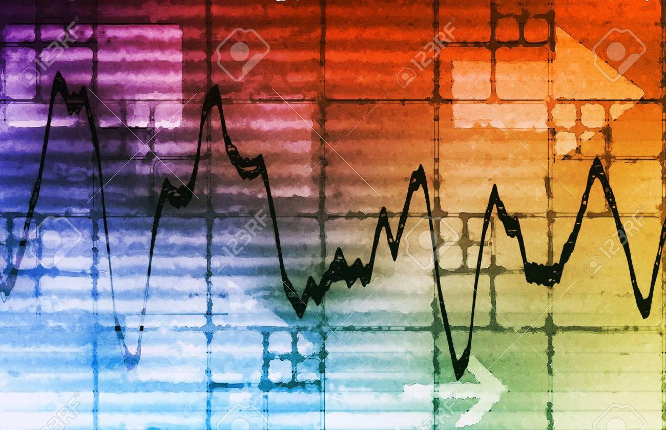 Commodities Trading and Price Analysis News Art Standard-Bild - 46724746