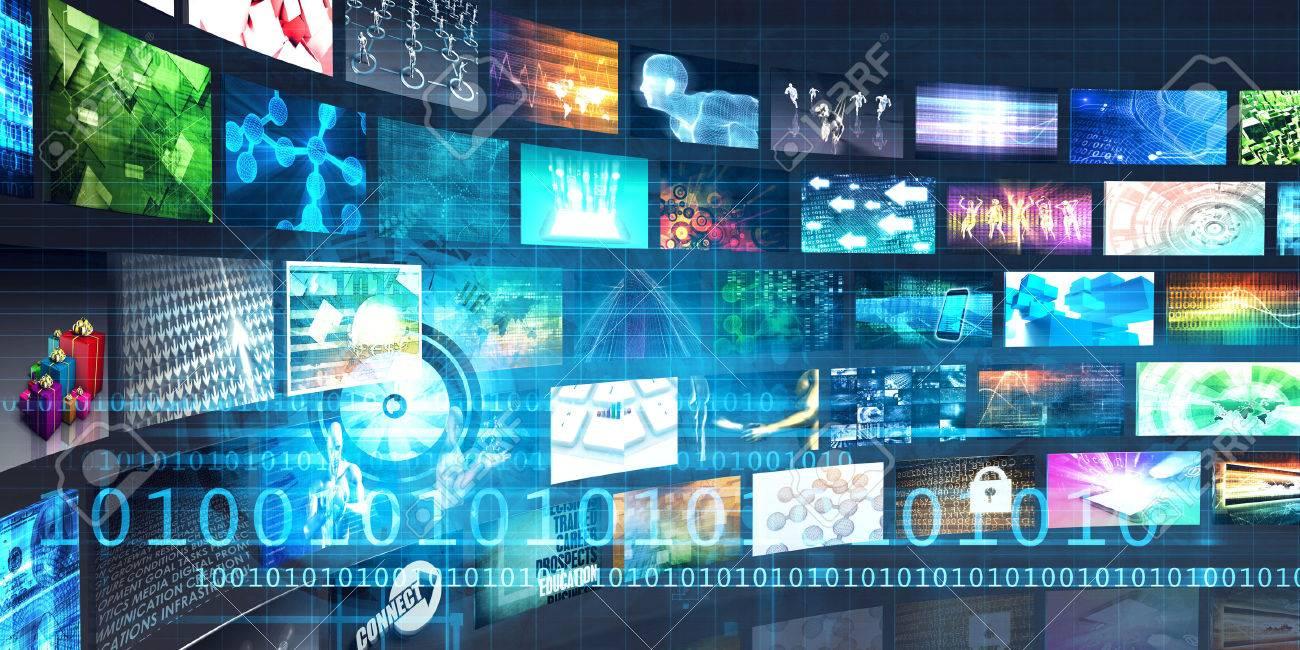 Digital Multimedia Entertainment and Internet Business Concept Standard-Bild - 46725945