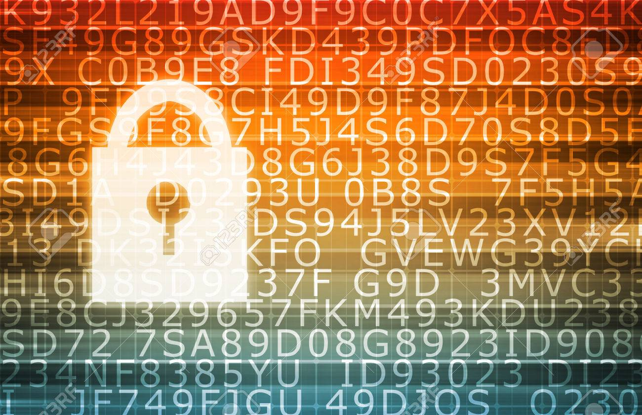 Data Center Secure Servers as a Abstract Background Standard-Bild - 48279905