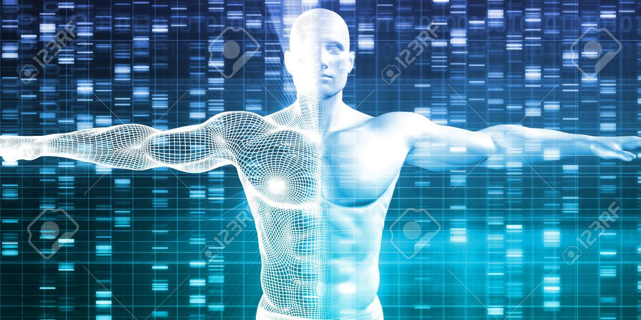 DNA Encoding and Genetic Code as a Science Abstract Standard-Bild - 53021565