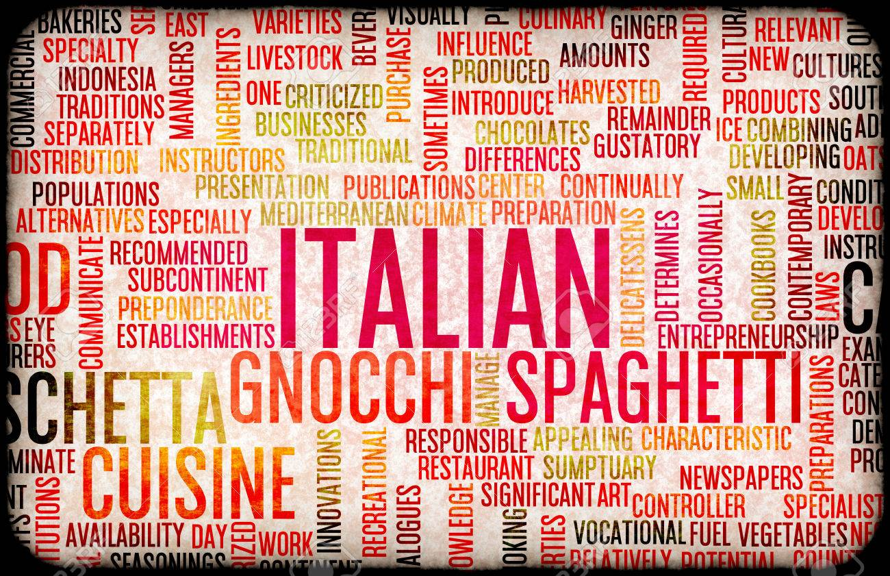 italian food and cuisine menu background with local dishes stock