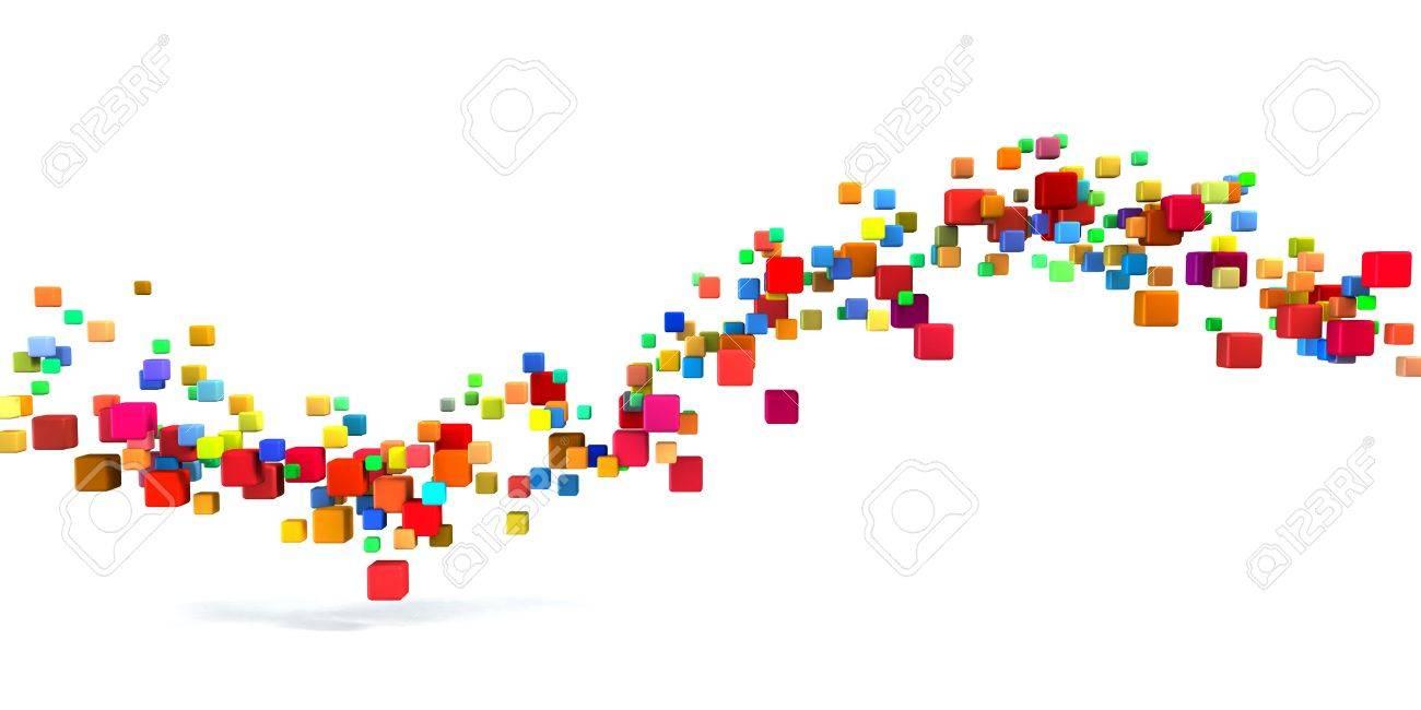 Blockchain Technology as a Creative Business Concept Standard-Bild - 64347695