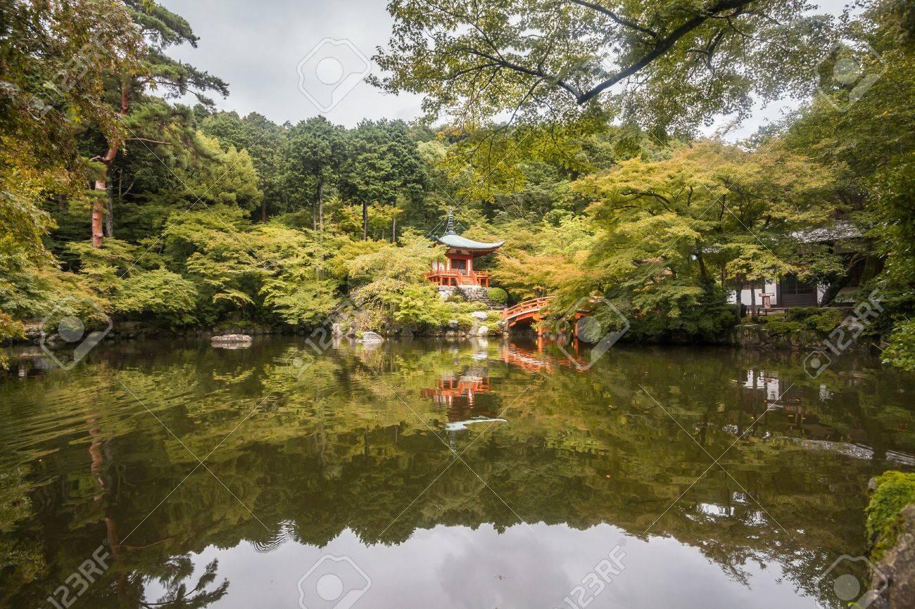 Summer Autumn Transit Lake View Of Bentendo Hall Diago-ji Temple ...